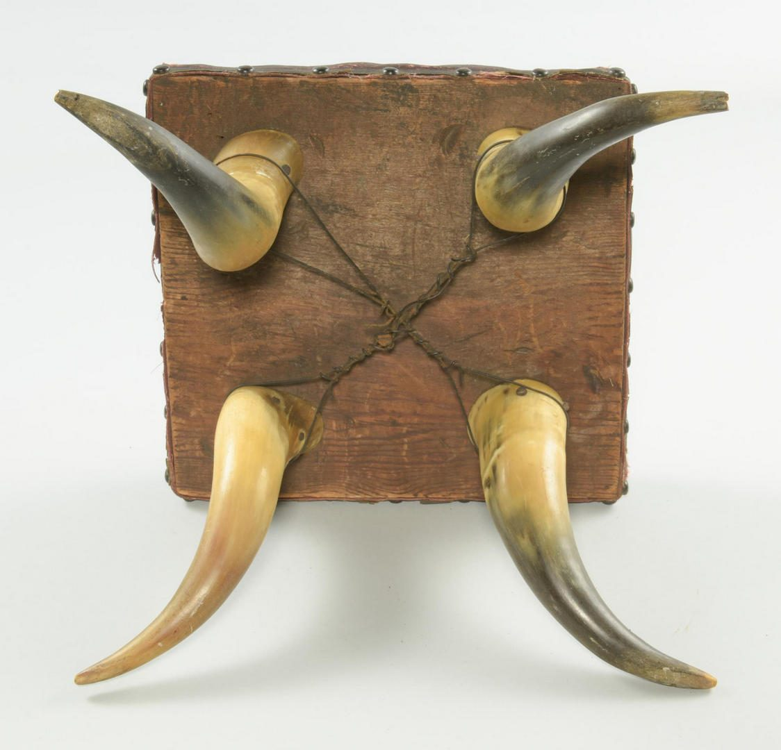Lot 202: 3 Texas Horn Stools