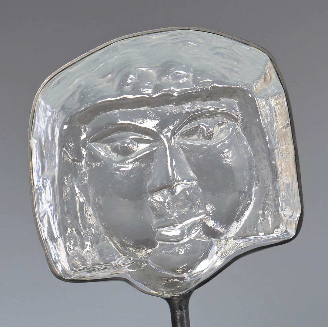 Lot 206: Erik Hoglund Kosta Boda Face Sculpture