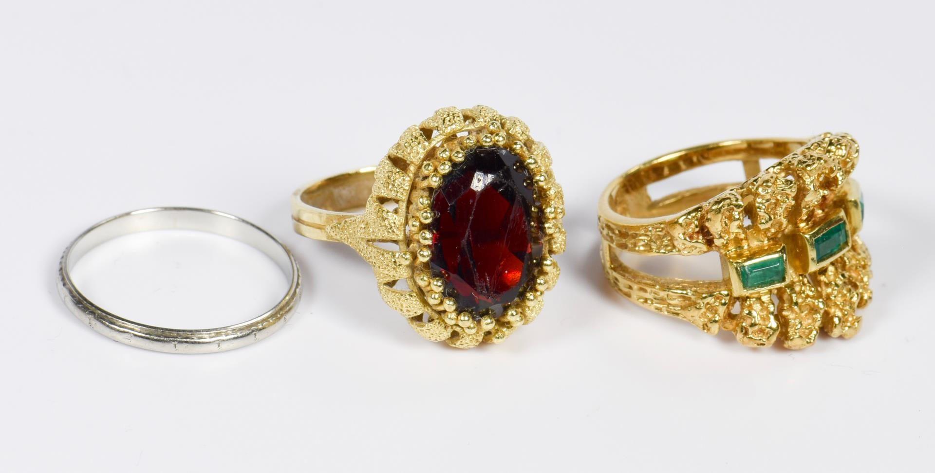 Lot 20: Three 18K Ladies Rings