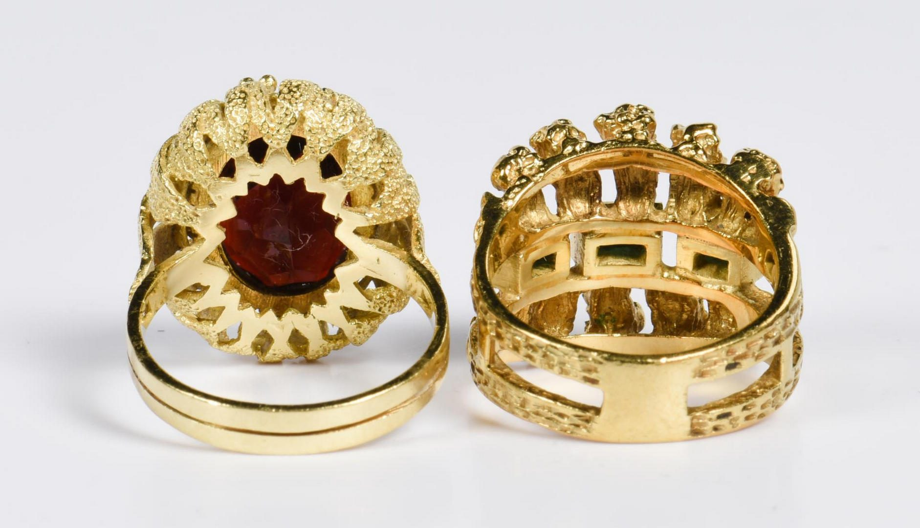 Lot 20: Three 18K Ladies Rings