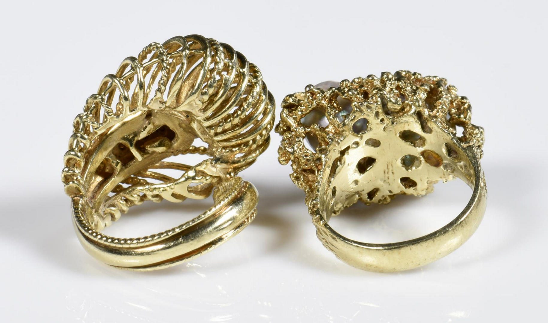Lot 210: Two 14K Fashion Rings
