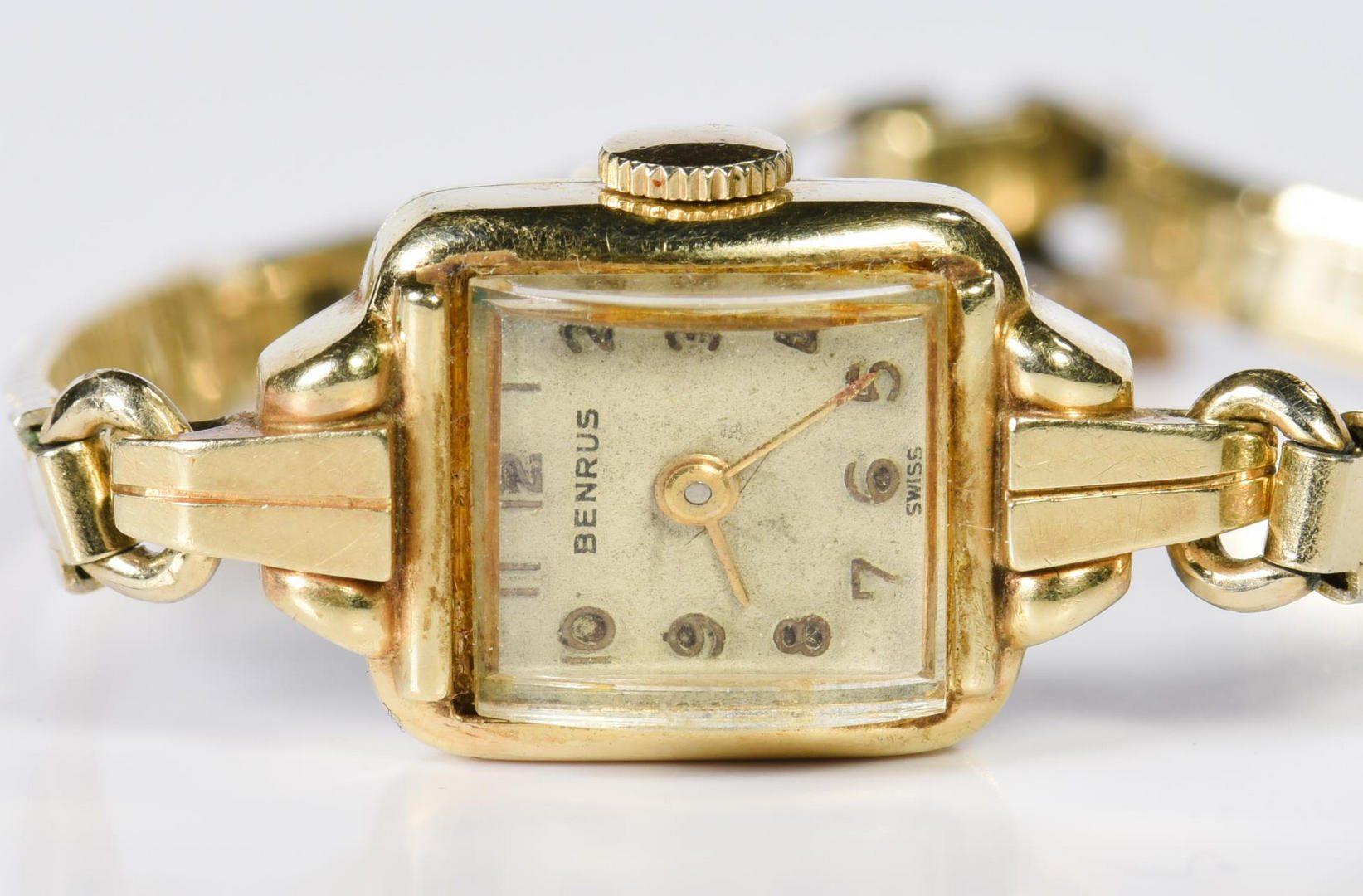Lot 217: 4 14K Watch faces, incl Movado