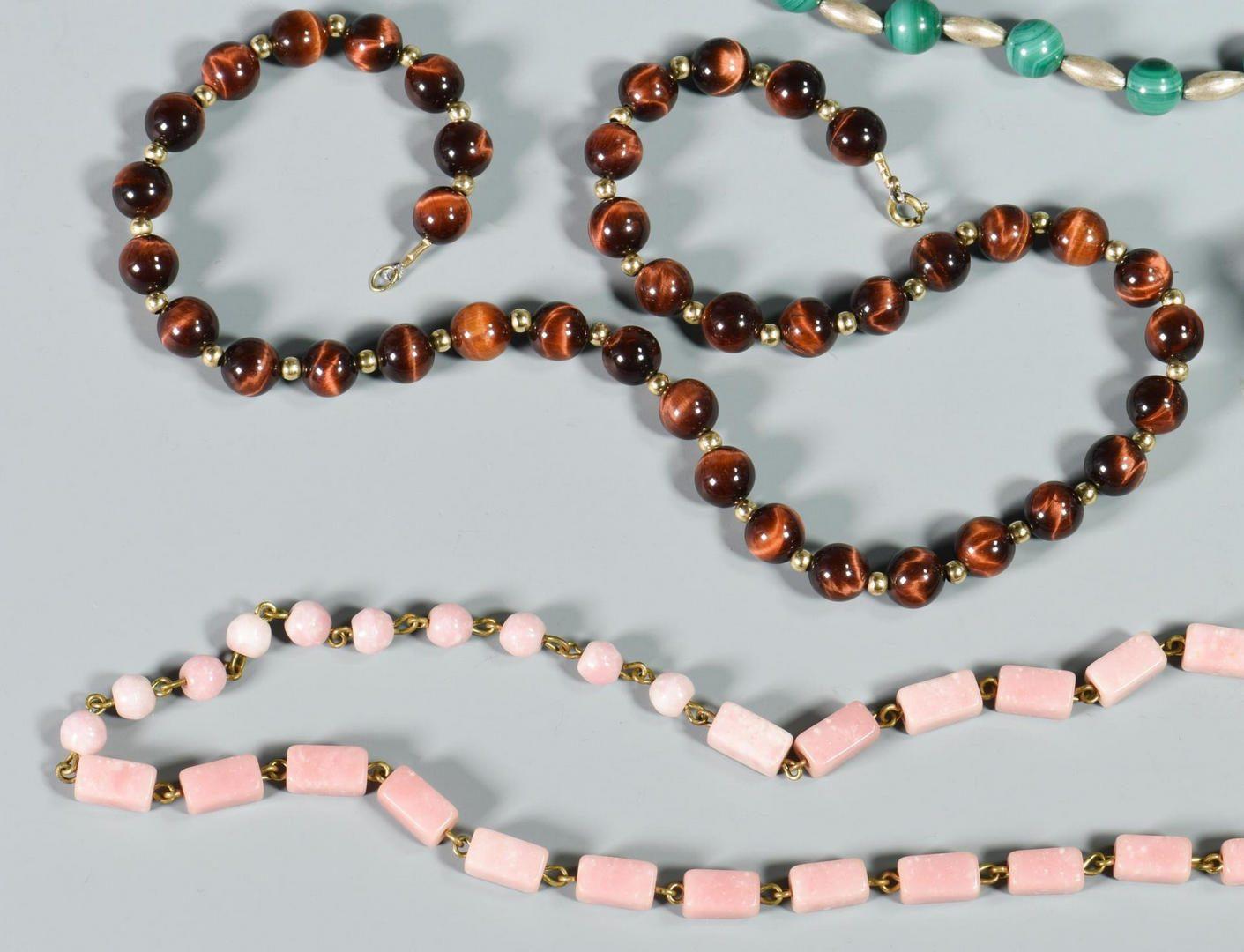 Lot 218: 14 items Stone Jewelry