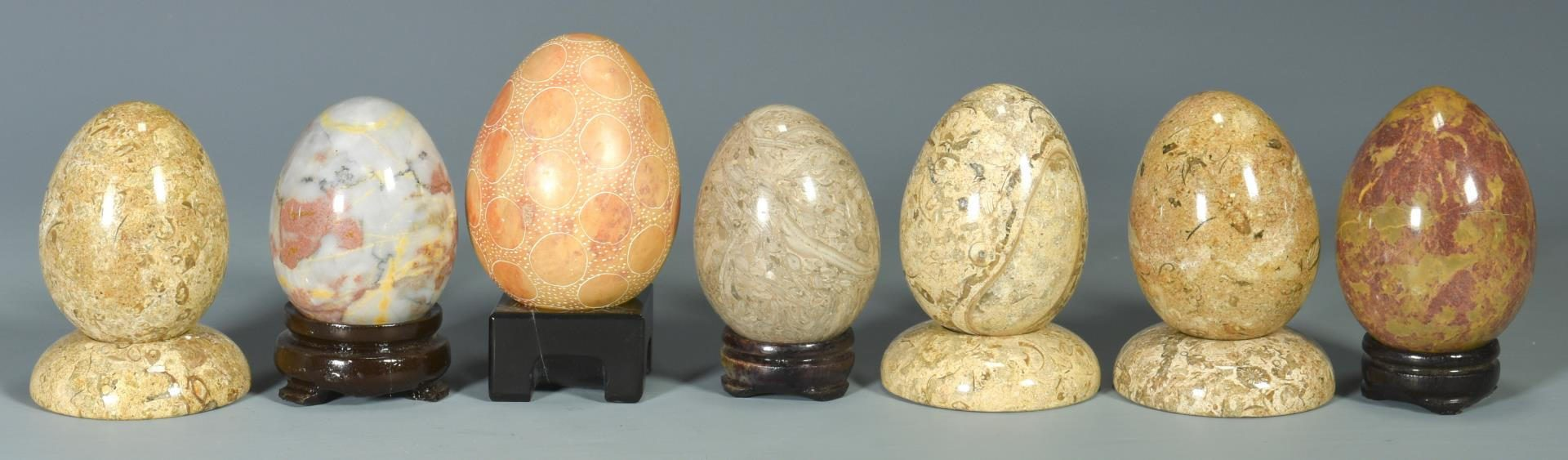 Lot 221: Large Collection of Polished Mineral Specimens