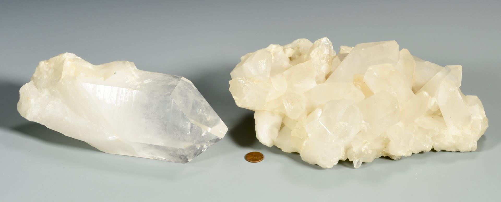 Lot 223: 4 Free Form White Quartz Crystals