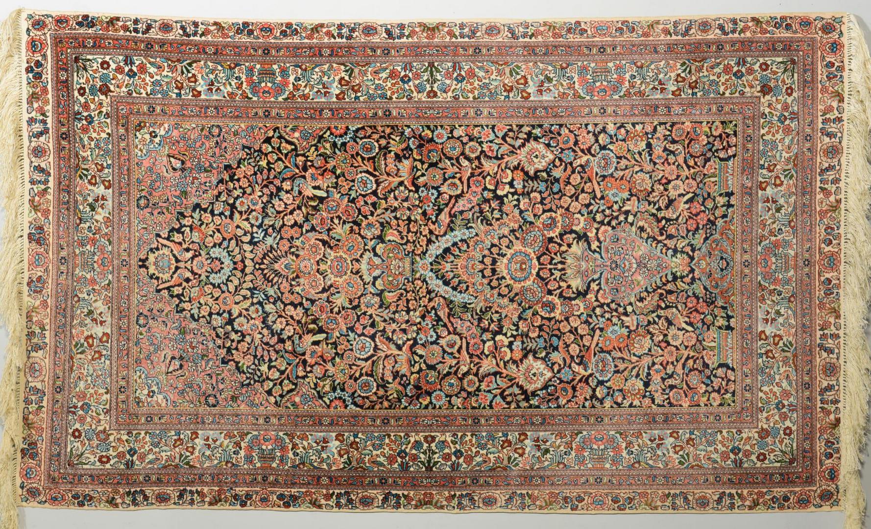 Lot 228 Silk Hereke Carpet Tree Of Life