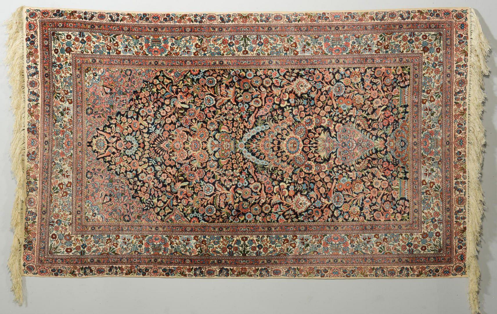Lot 228: Silk Hereke Carpet, Tree of Life