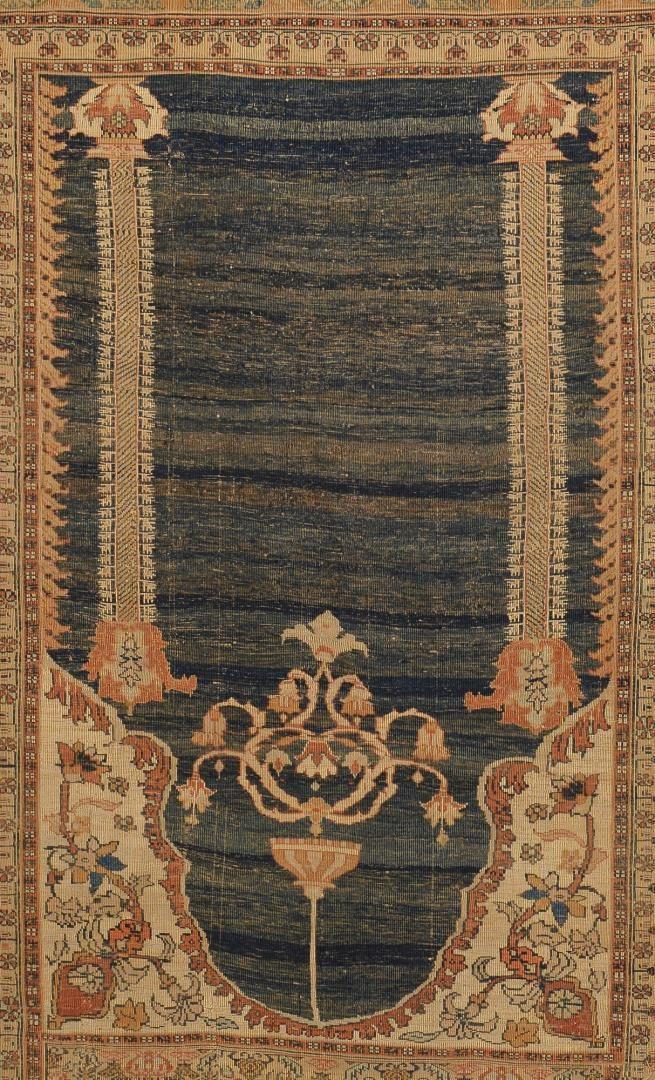Lot 229: Antique Silk Tabriz Prayer Rug