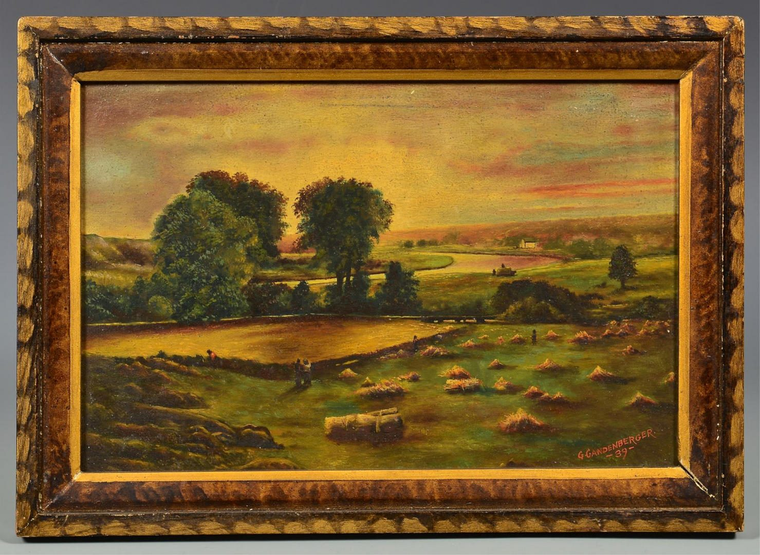 Lot 234: American School O/B farm landscape, Gandenberger
