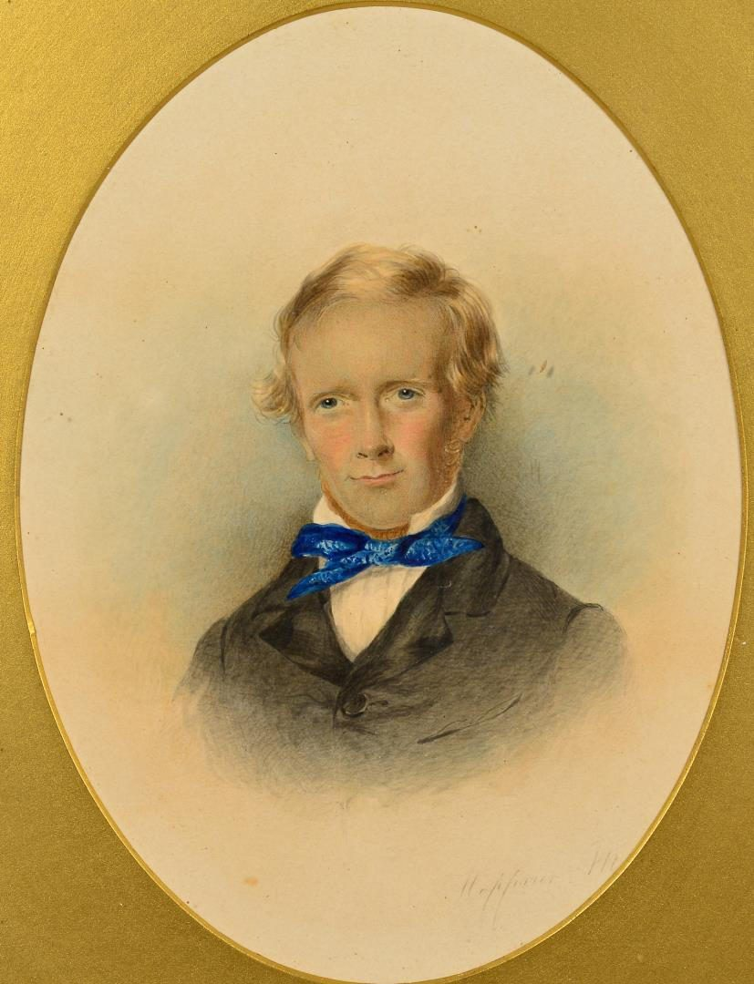 Lot 237: 4 Watercolor portraits inc. Hoppner Meyer