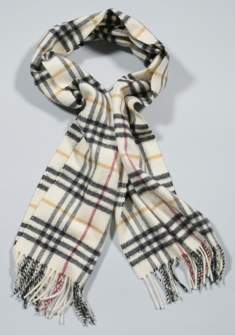 Lot 23: 5 Burberry Scarves