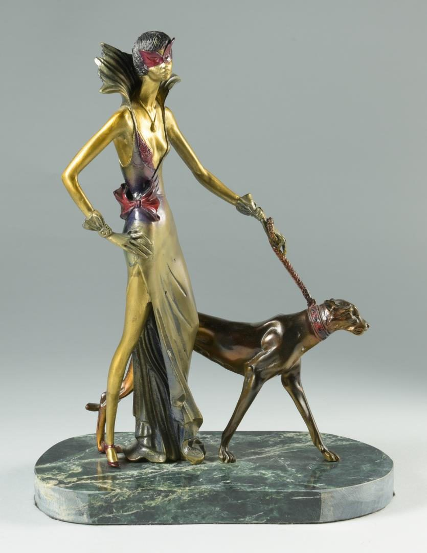 Lot 242: 2 Bronzes & Print after Erte