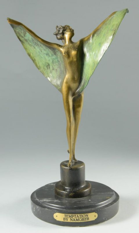 Lot 243: Bronze Sculpture, After Bergman
