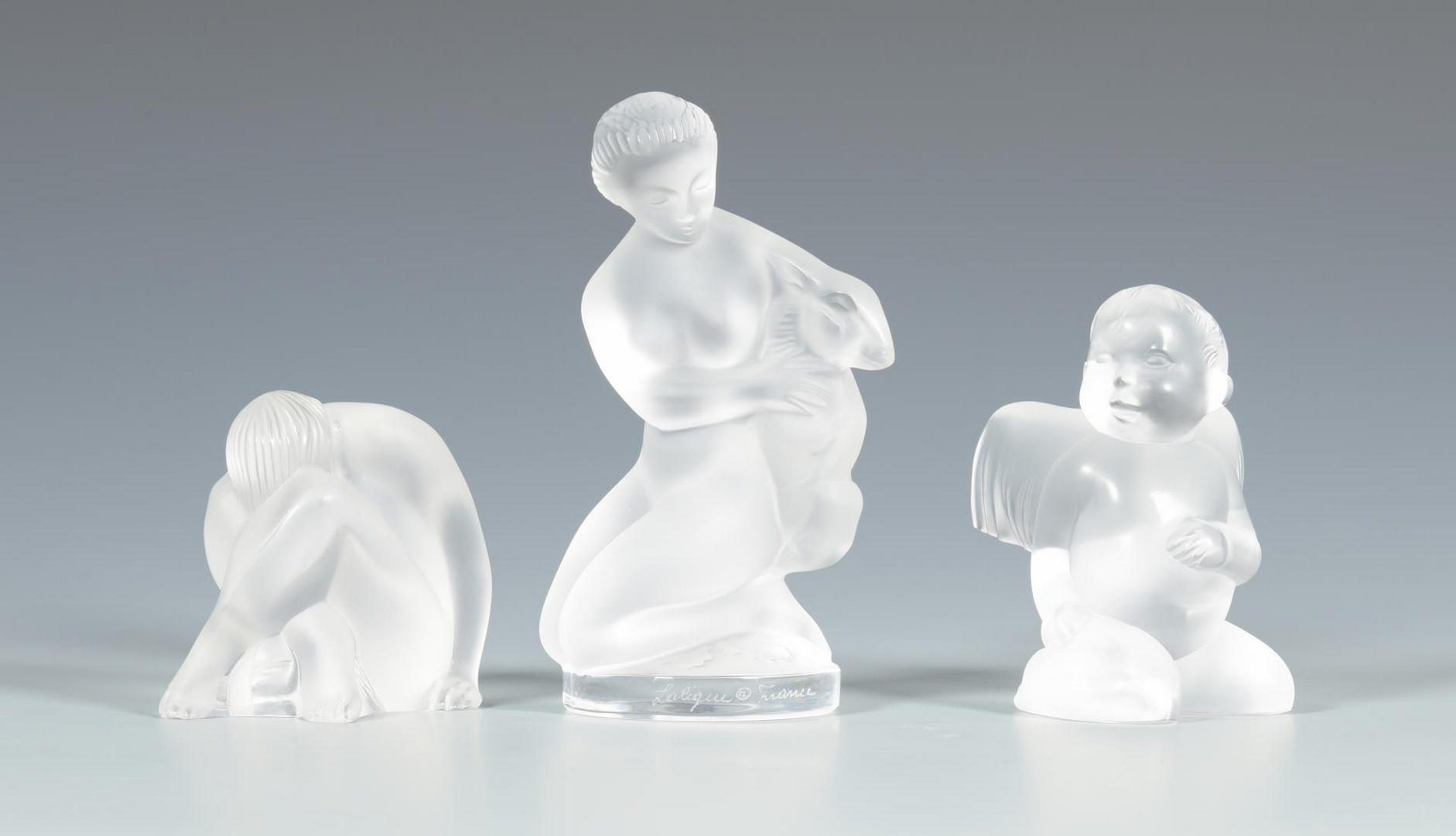 "Lot 25: Grouping of Lalique, including ""Kazak"" horse"