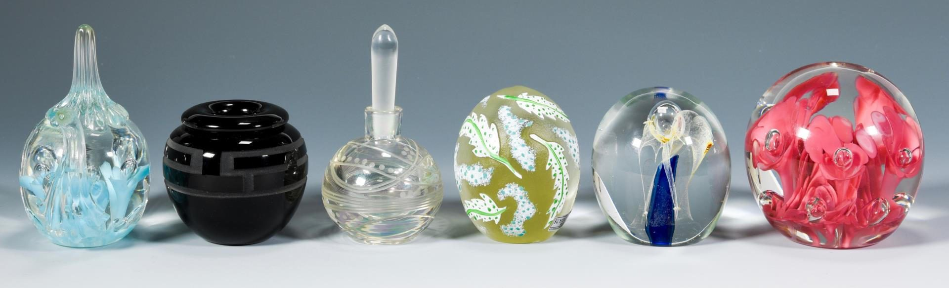 Lot 26: Group of Contemporary Art Glass, incl. St. Clair