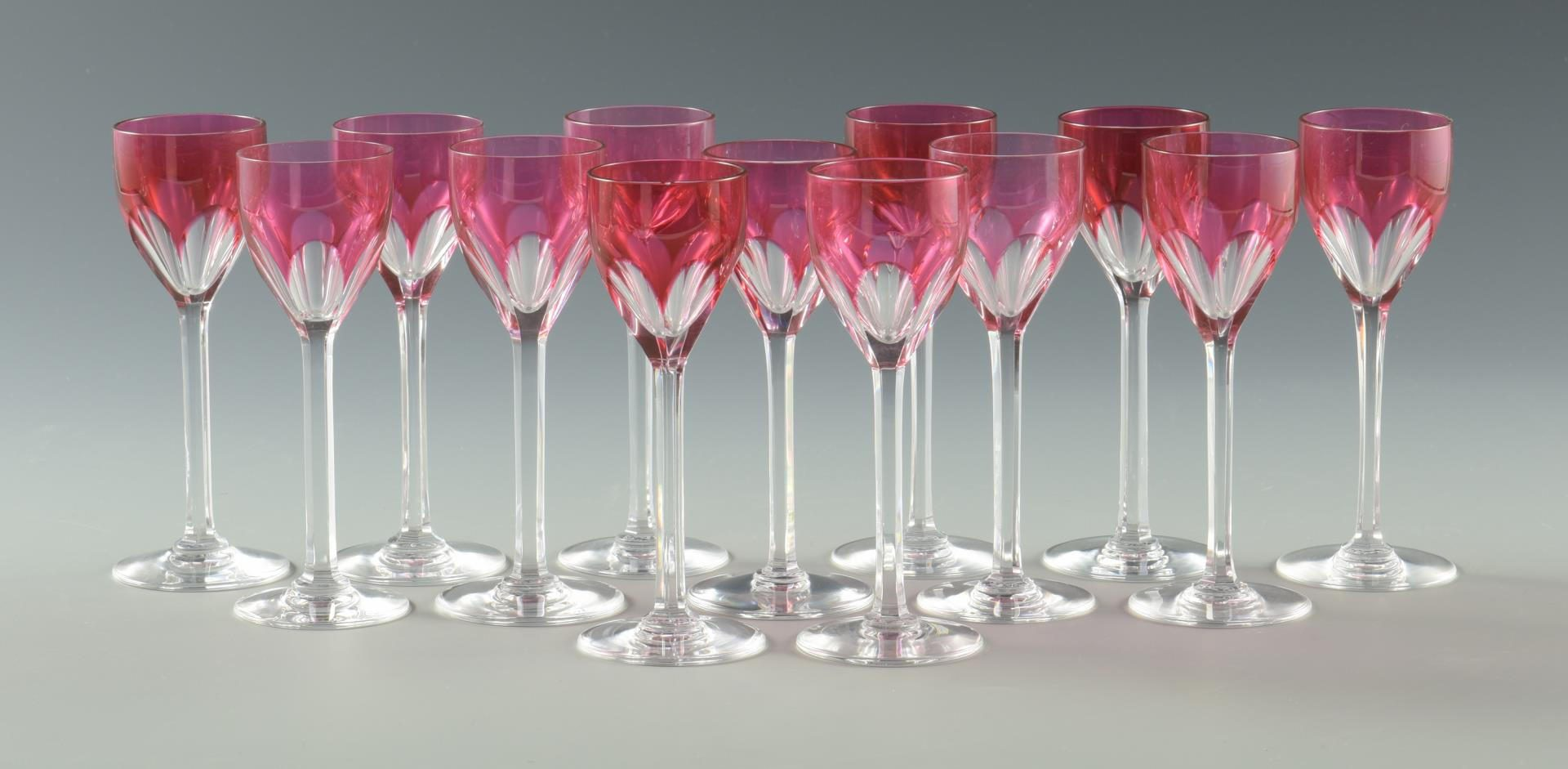Lot 27: Group of Baccarat and Val St. Lambert, 14 total