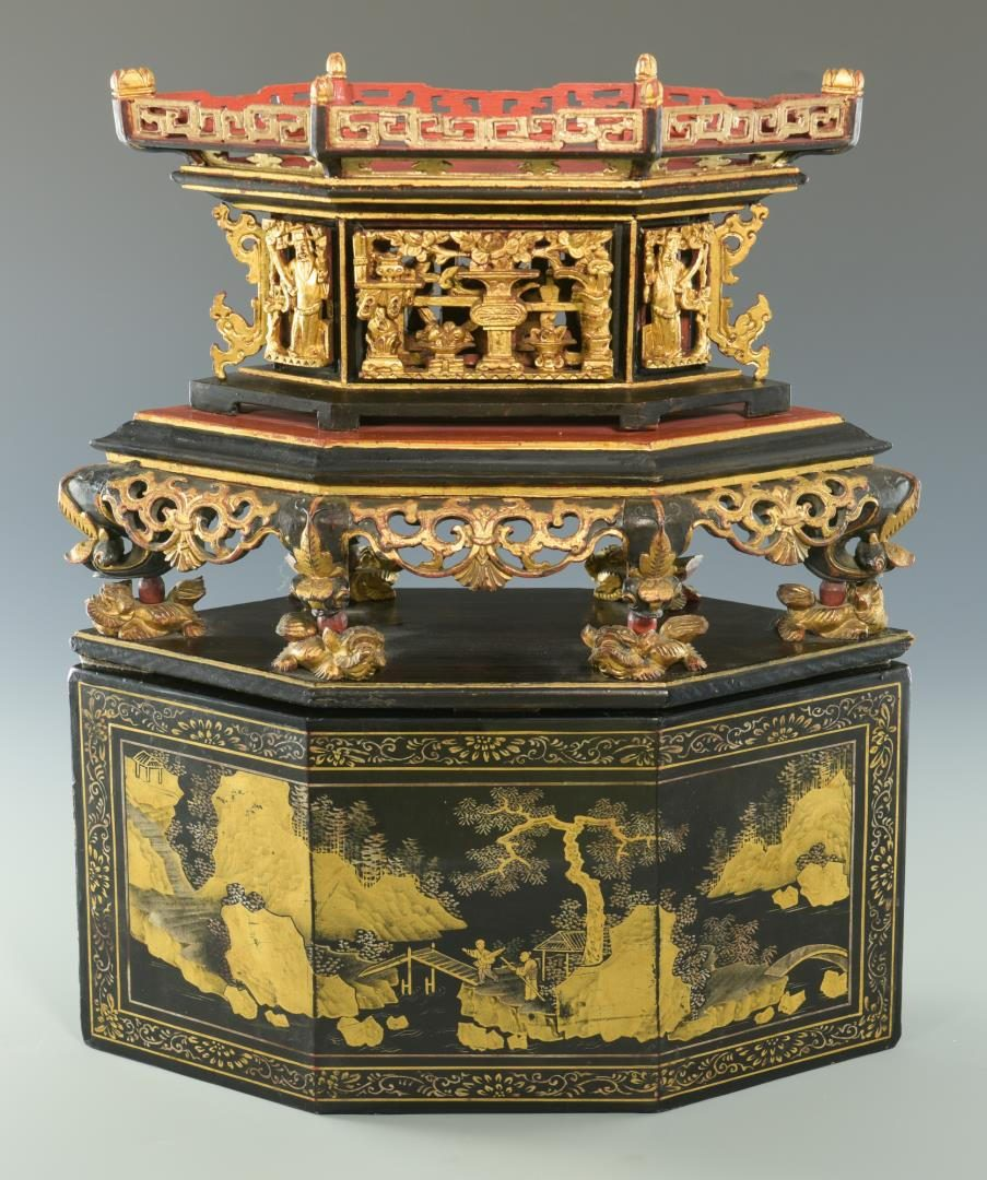 Lot 29: Chinese Lacquer Tableau