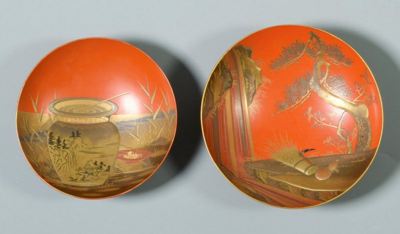 Lot 32: 19th c. Japanese Sake cups and more