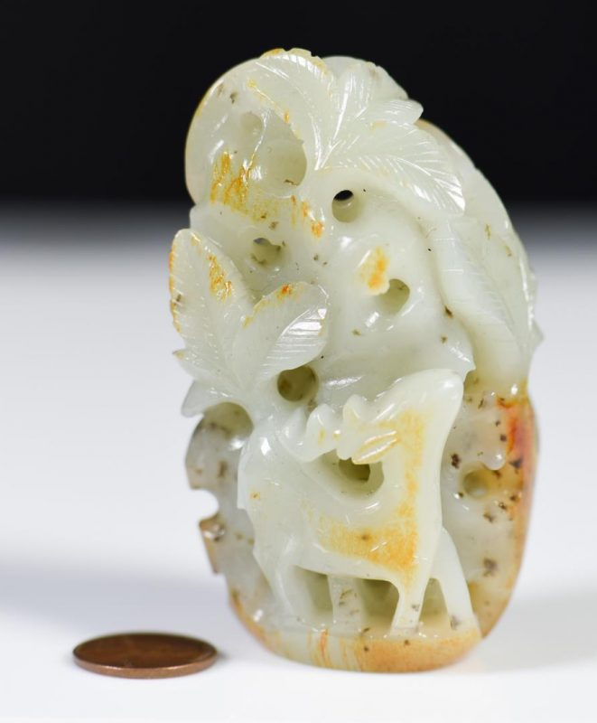 Lot 36: Chinese Celadon Jade Figural Group