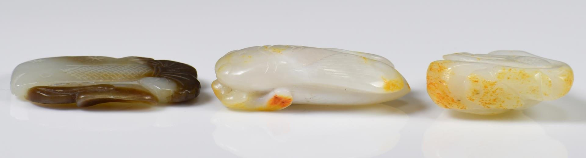 Lot 37: 3 Chinese Jade Carvings, Animal Forms