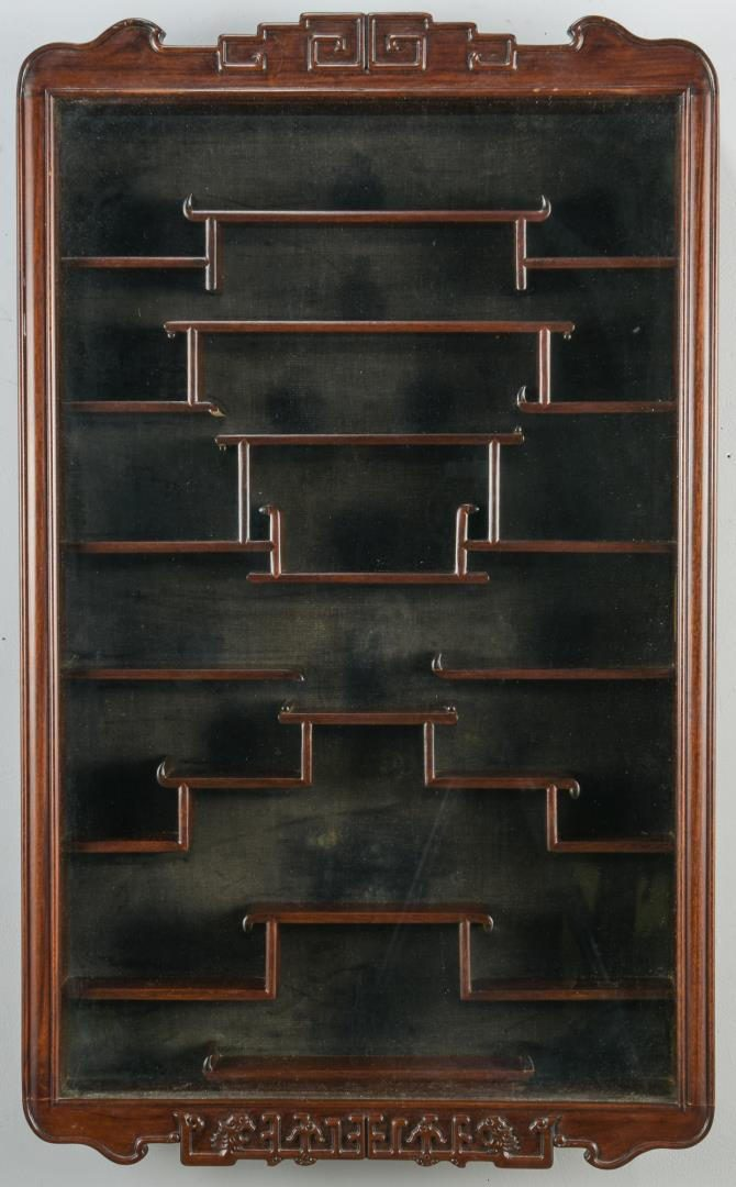 lot 40  chinese rosewood snuff bottle display case