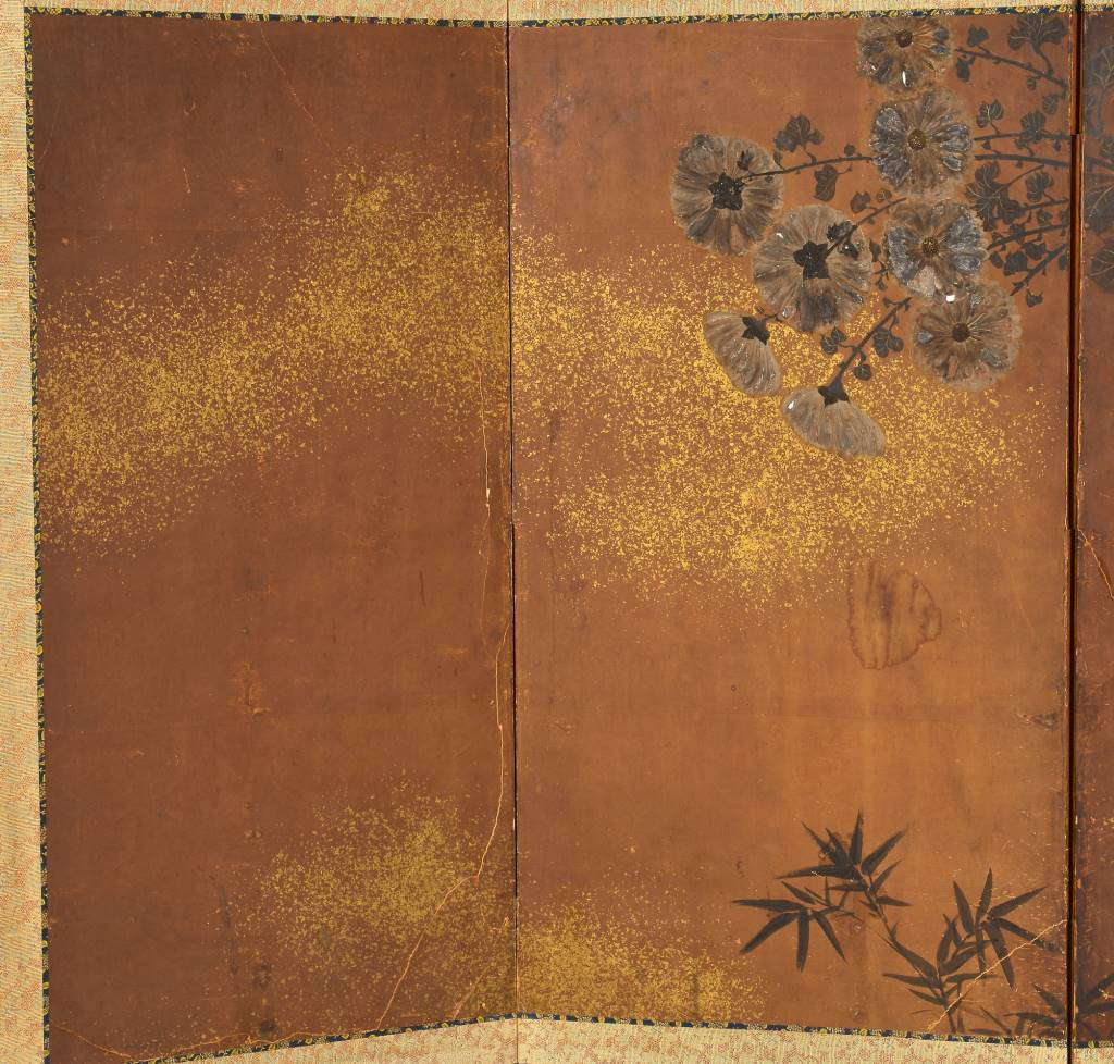 Lot 49: Painted Japanese Screen, Edo Period