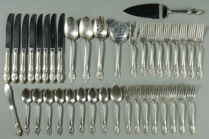 Lot 4: Westmoreland Enchanted Orchid Sterling Flatware