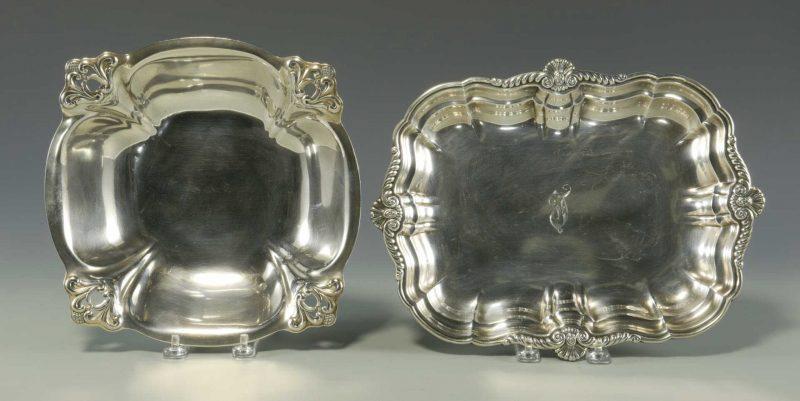 Lot 5: International Sterling Silver Tray & Royal Danish Silver Bowl
