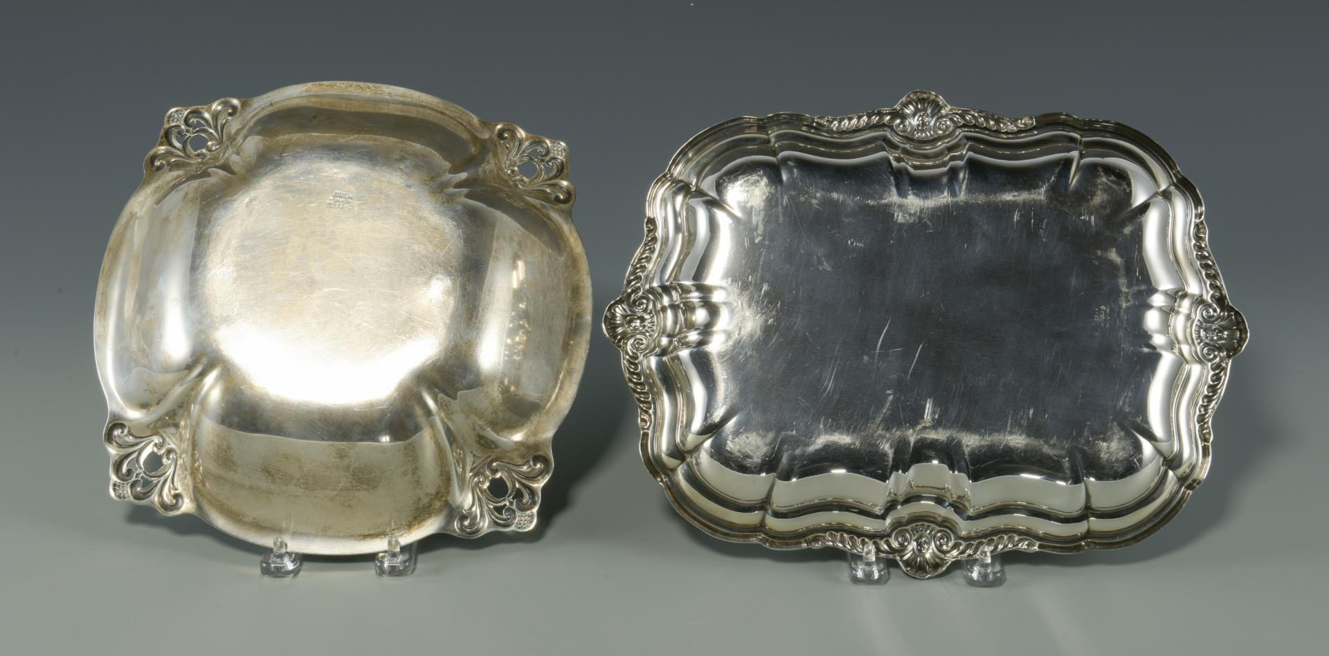 Lot 5: International Sterling Silver Tray & Royal Danish Silver Bowl