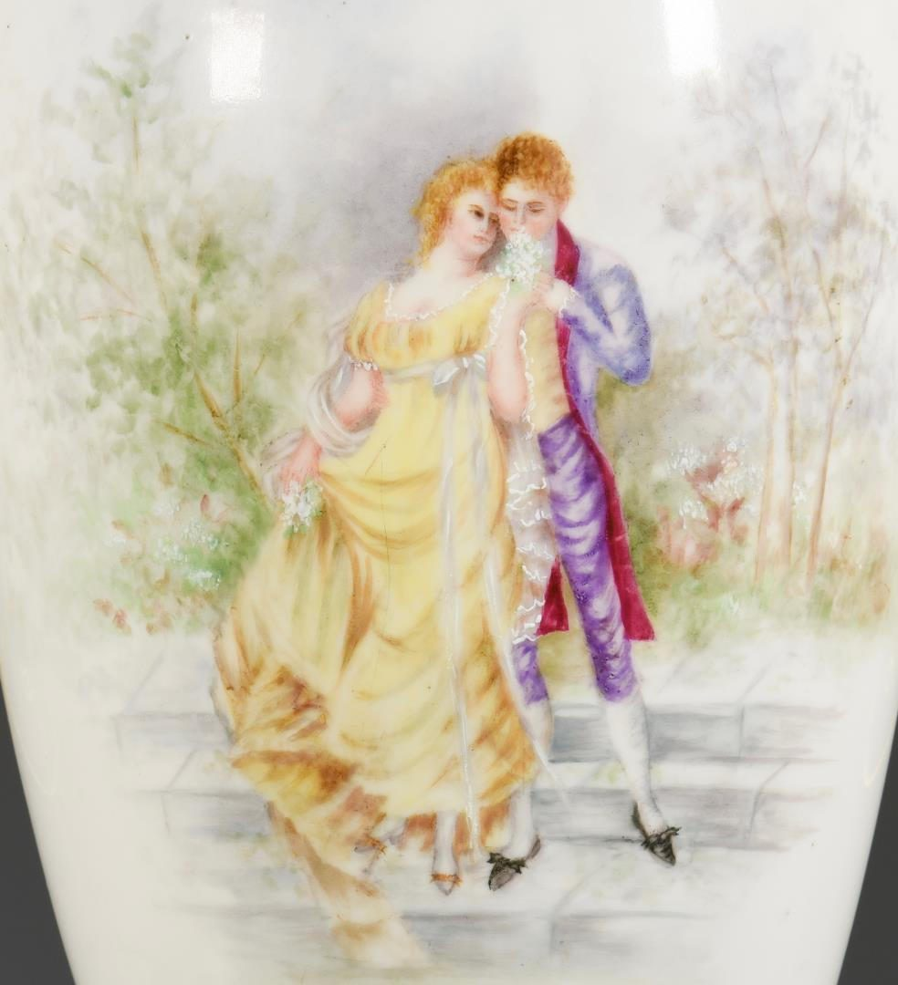 Lot 61: Large French Porcelain Urn w/Ormolu Mounts
