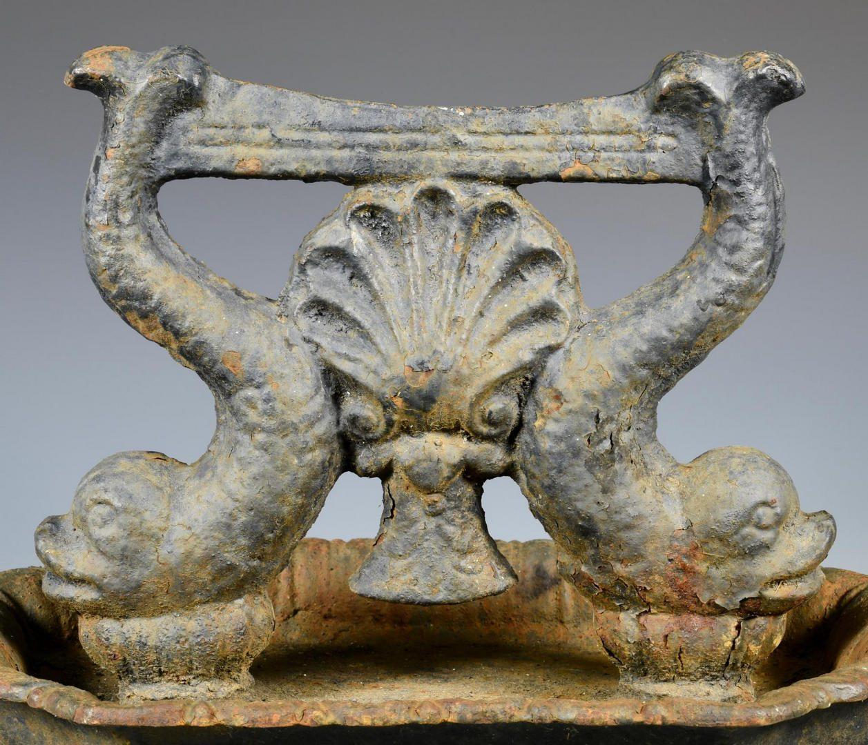 Lot 67: Cast Iron Figural Dolphin Bootscraper