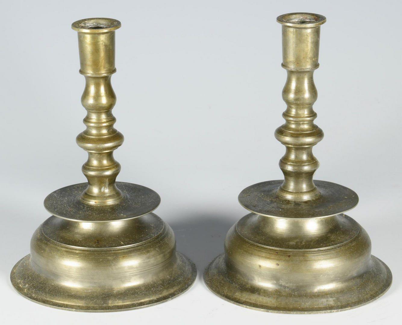 Lot 68: Pair Capstan Candlesticks