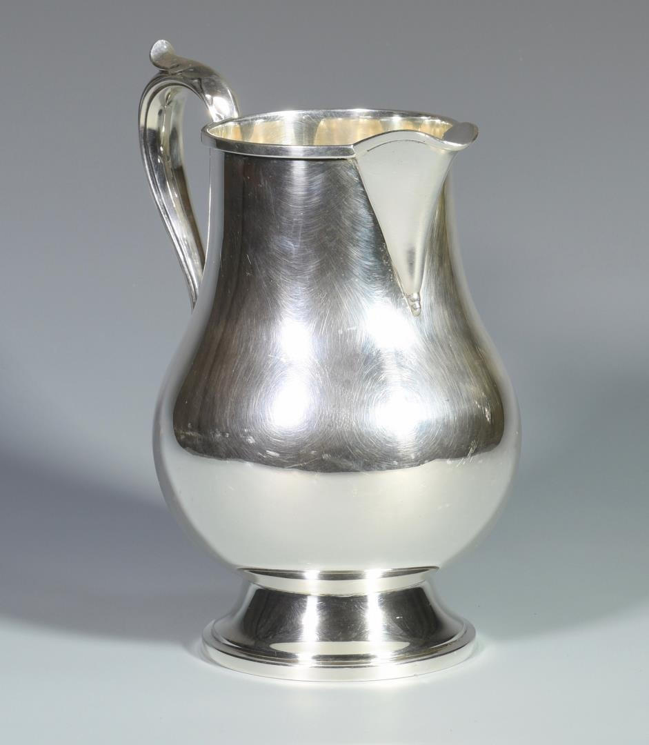 Lot 6 Fisher Sterling Silver Water Pitcher