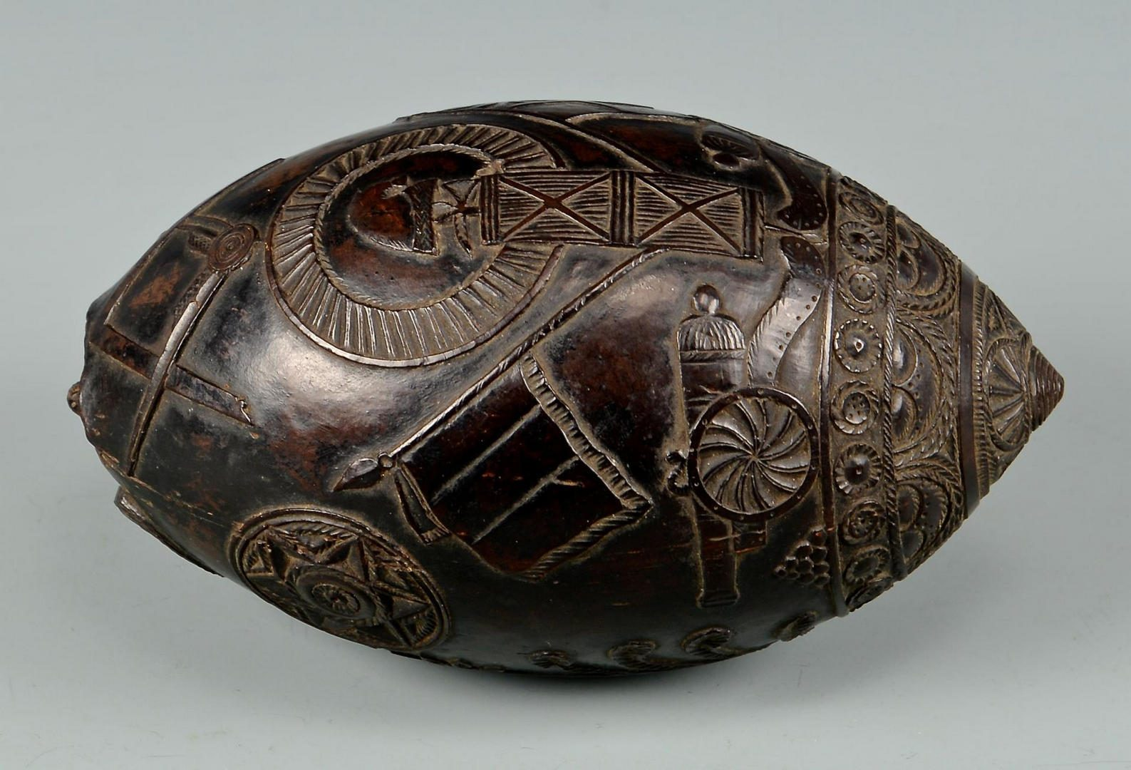 Lot 70: 19th Century Carved Coconut Shell