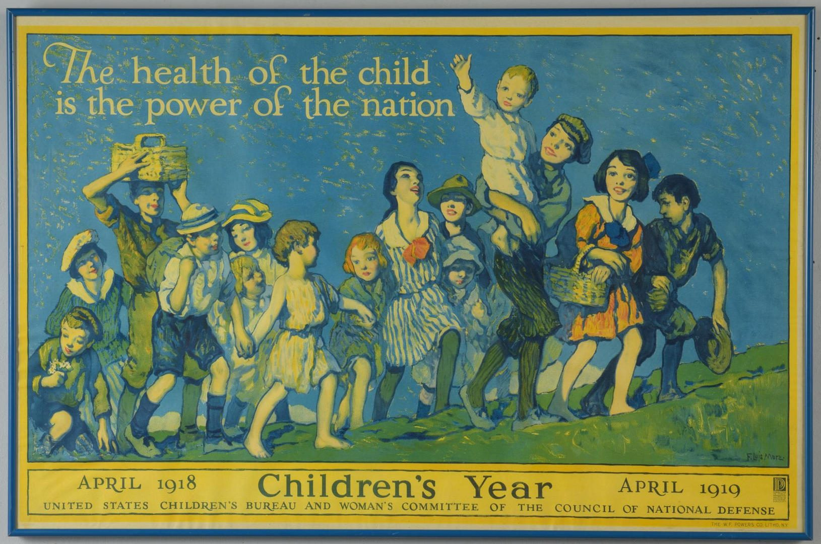 Lot 75: WWI Children's Health Poster