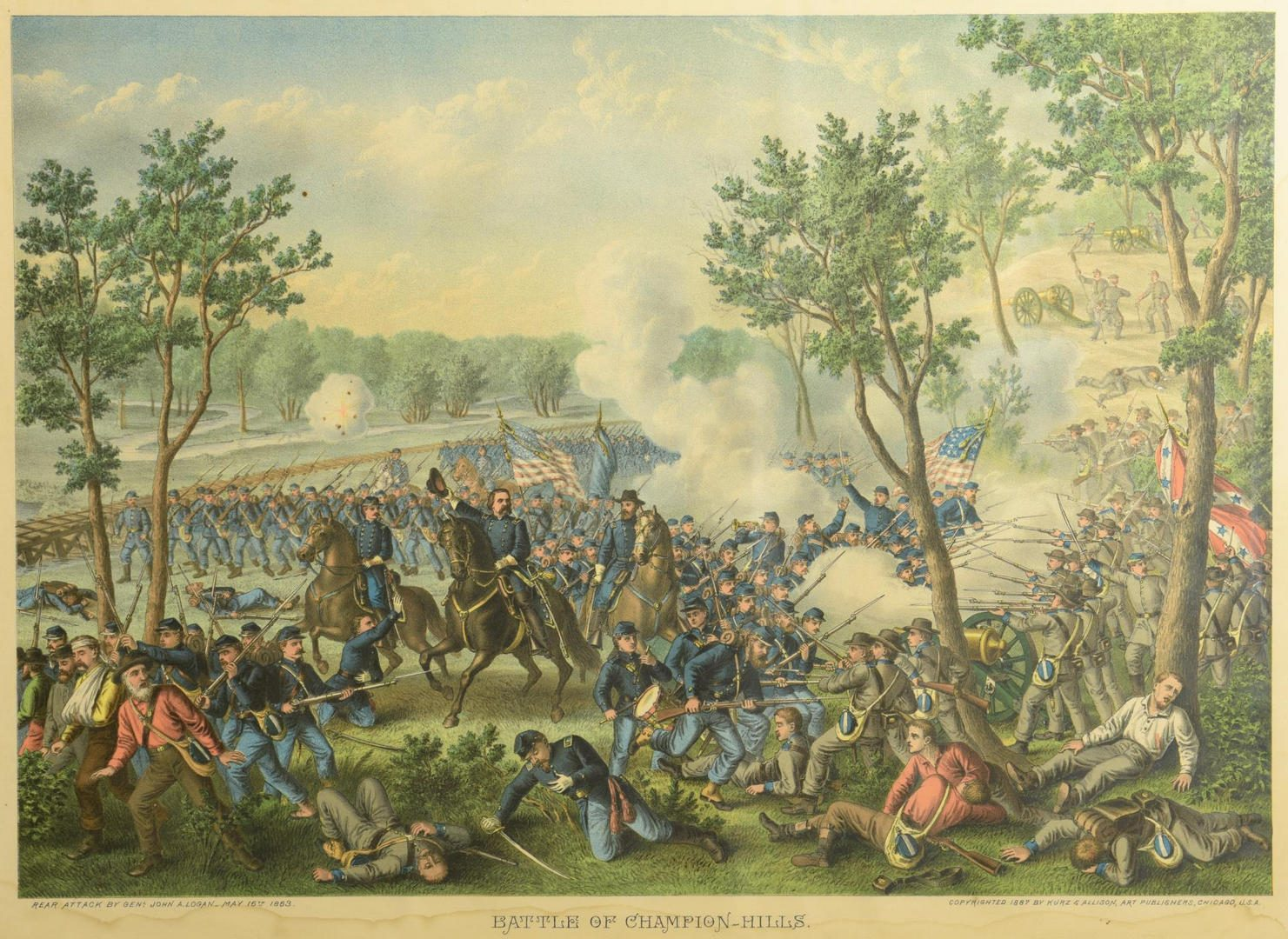 Lot 80: Civil War Chromolithographs, Kurz  Allison