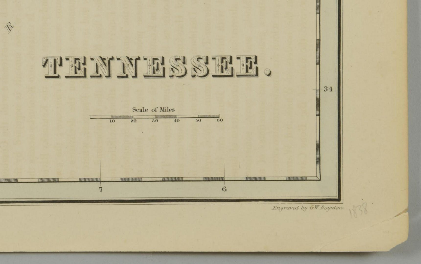 Lot 87: 3 19th cent. Maps, 1 of TN and KY, 2 of TN