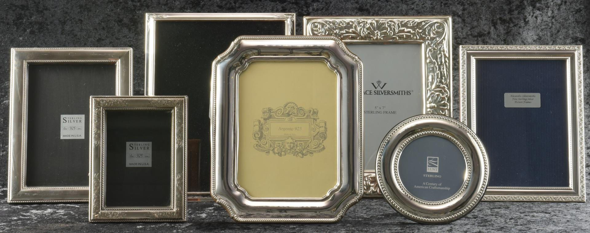 Lot 8: 7 Sterling Frames, including Lunt, Wallace