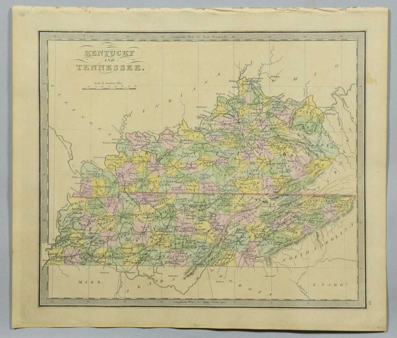 Lot 92: 4 Maps, Incl TN, KY