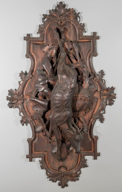 "Lot 101: Black Forest Wall Plaque, 48"" H"