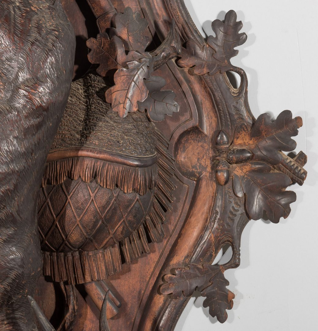 """Lot 101: Black Forest Wall Plaque, 48"""" H"""