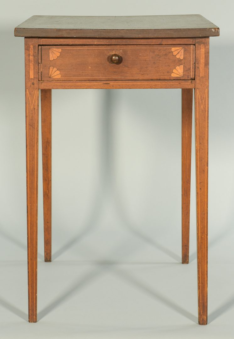 Lot 103: Federal Inlaid Side Table