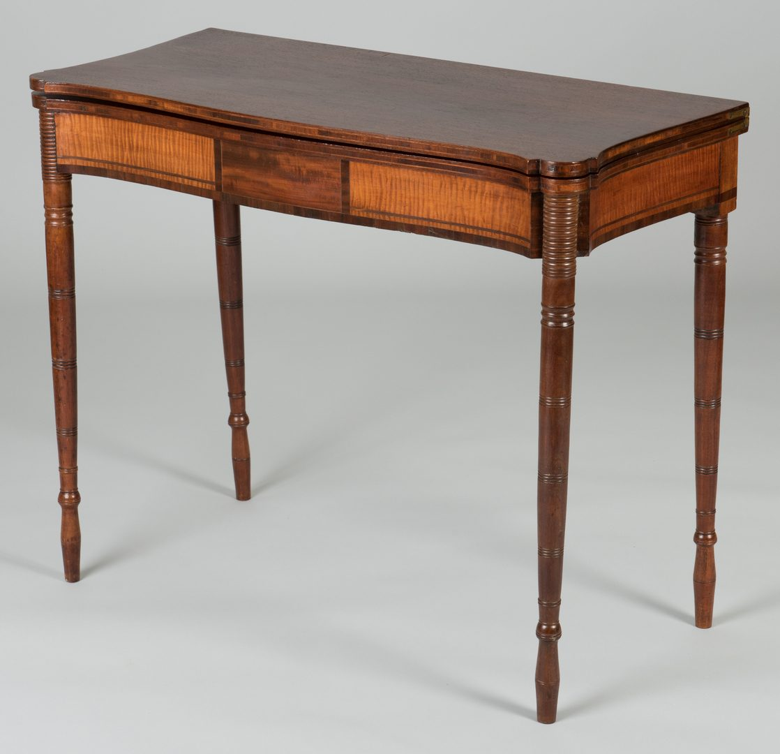 Lot 104: Massachusetts Federal Card Table