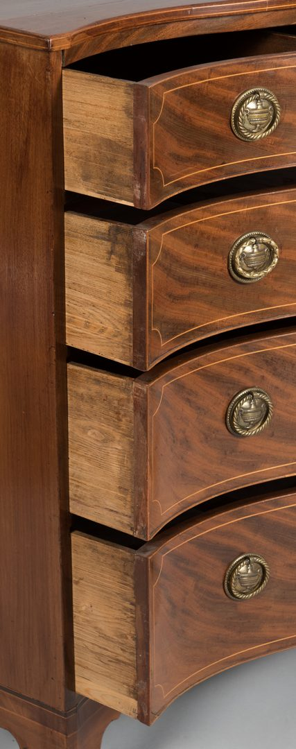 Lot 105: American or English Serpentine Chest, 19th c.