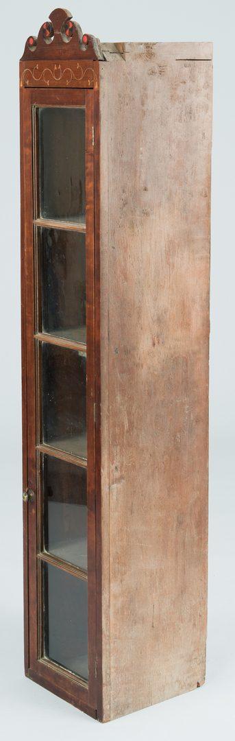 Lot 120: East TN Narrow Shelf Cupboard, Inlaid
