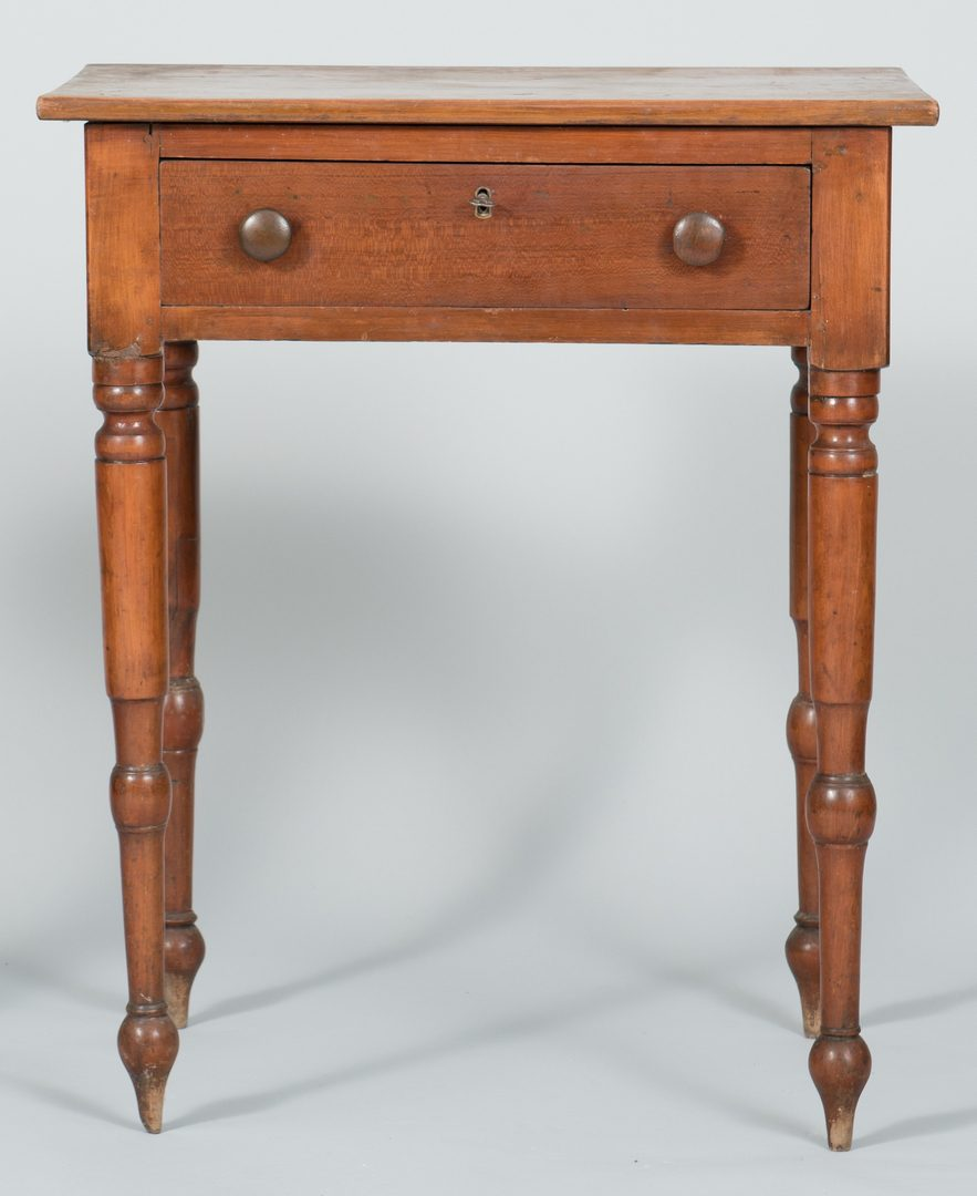 Lot 121: Middle TN Work Table and Candle Stand