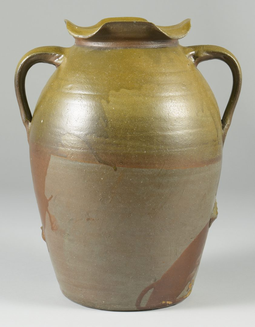Lot 123: Middle TN Pottery Jar, poss. Hedgecough