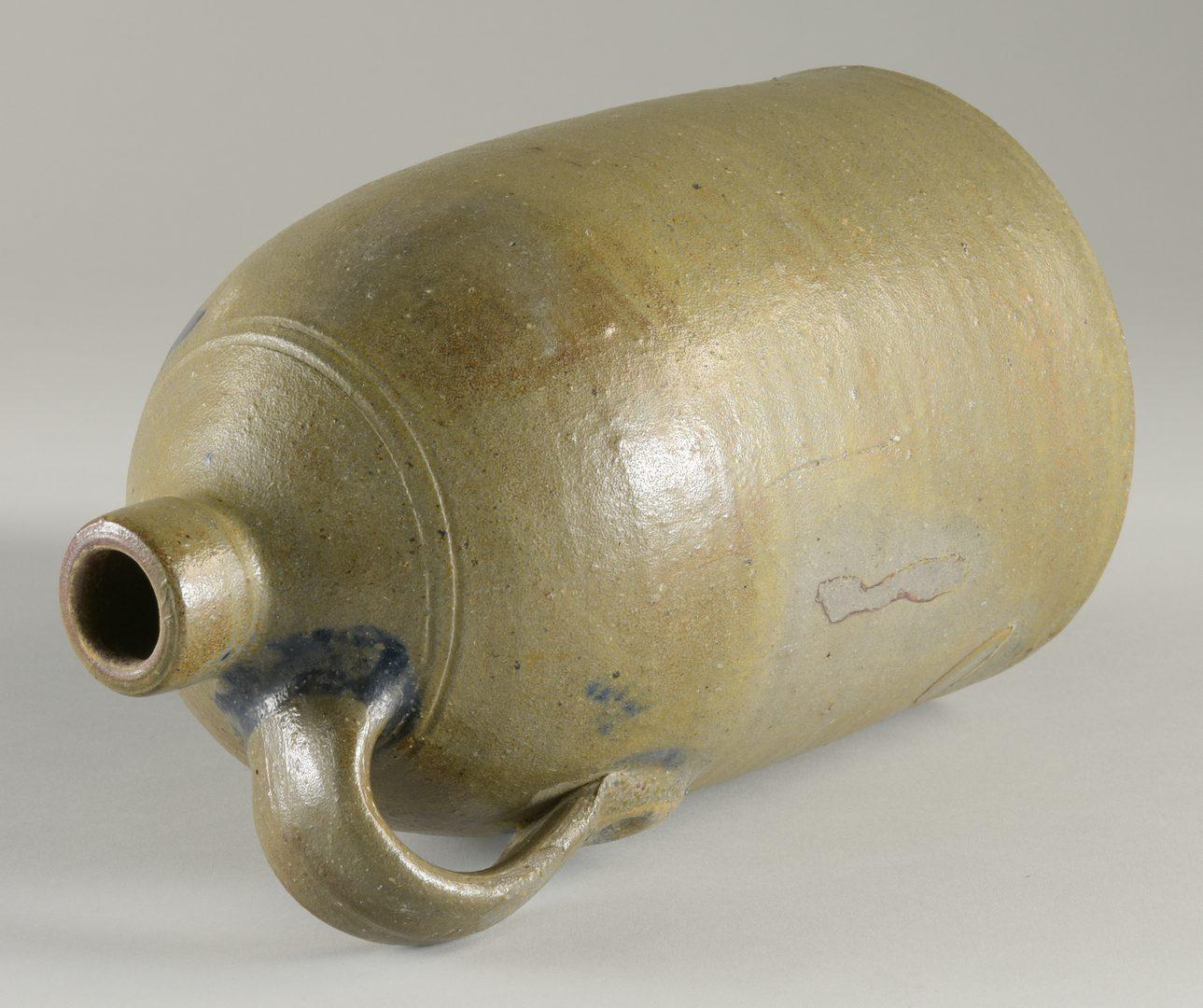 Lot 124: East TN Stoneware Jug, attr. to Charles Decker