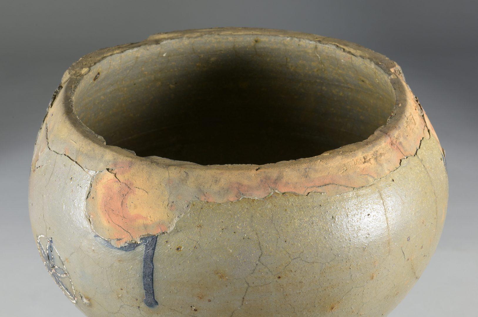 Lot 125: TN Decker Pottery Monument Base w/ Hex Stars