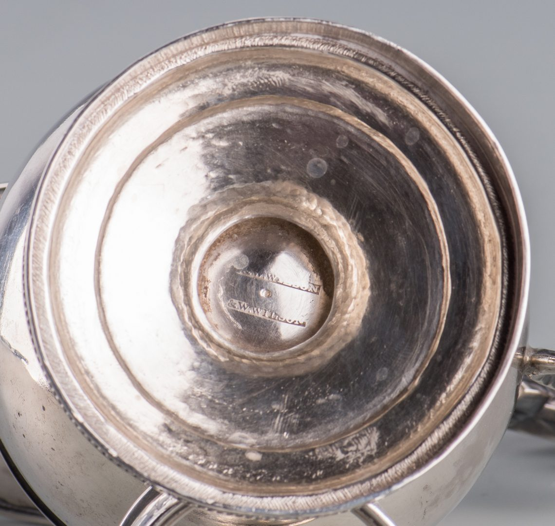 Lot 130: Coin silver inc. F.H. Clark, 9 pcs